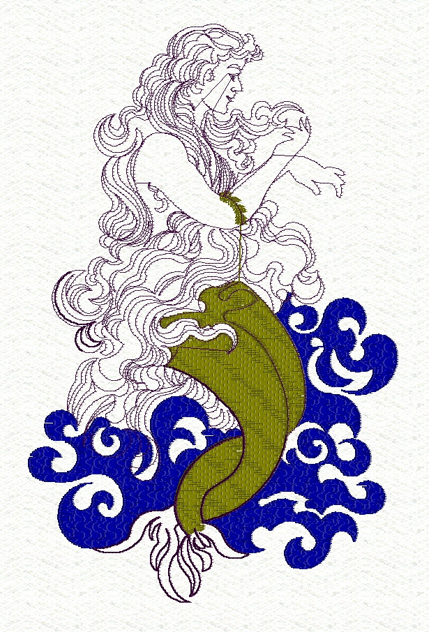 mermaid-redwork-fantasy-embroidery