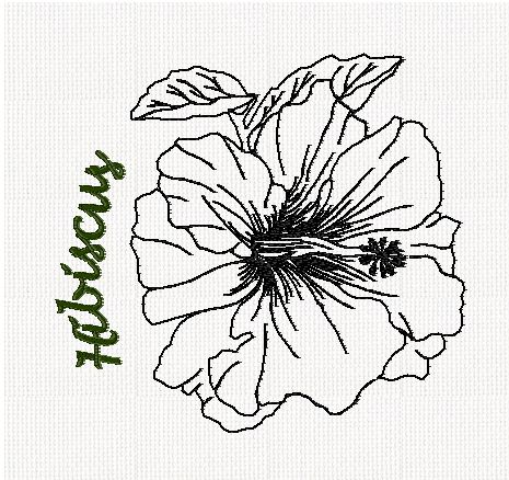 botanical-hibiscus-flower-redwork-embroidery