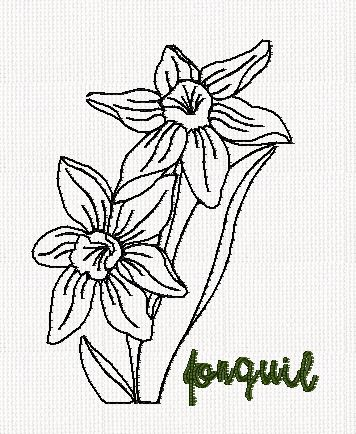 botanical-jonquil-flower-redwork-embroidery