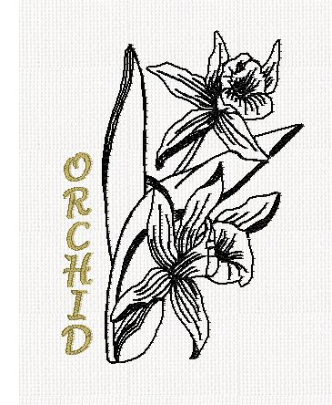 botanical-orchid-flower-redwork-embroidery