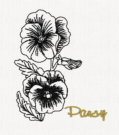 botanical-pansy-flower-redwork-embroidery