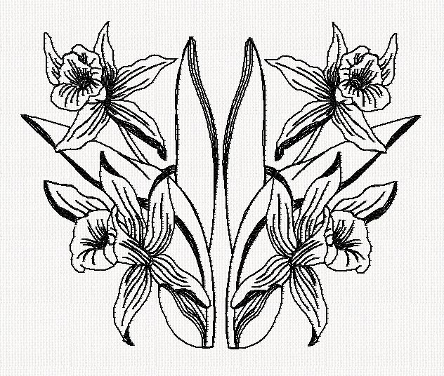 orchid-redwork-embroidery