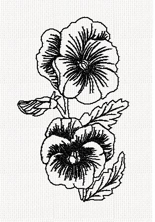 pansy-flower-redwork-embroidery