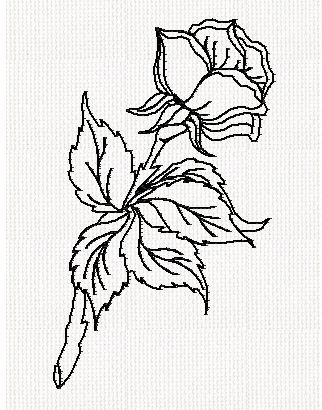 rose-flower-redwork-embroidery