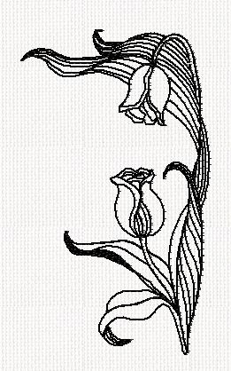 tulip-flower-redwork-embroidery