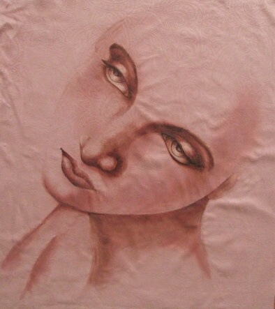 fabric-painting-of-womans-face