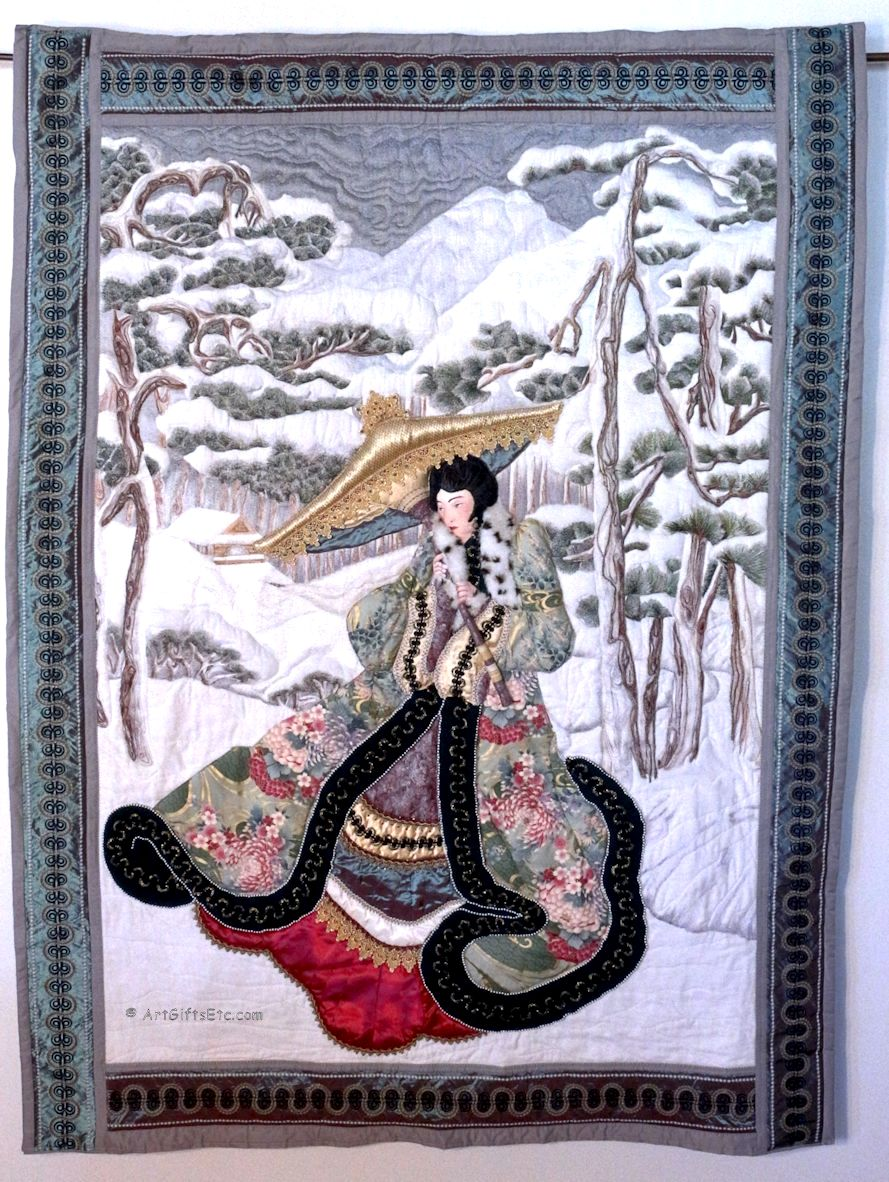 Geisha In The Snow-Step-By-Step Blog