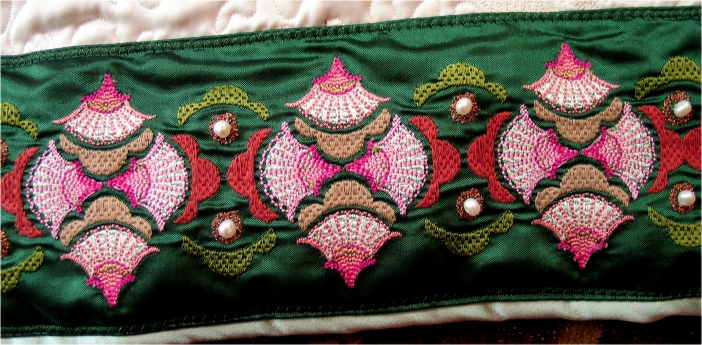 Asian fans-embroidered-border