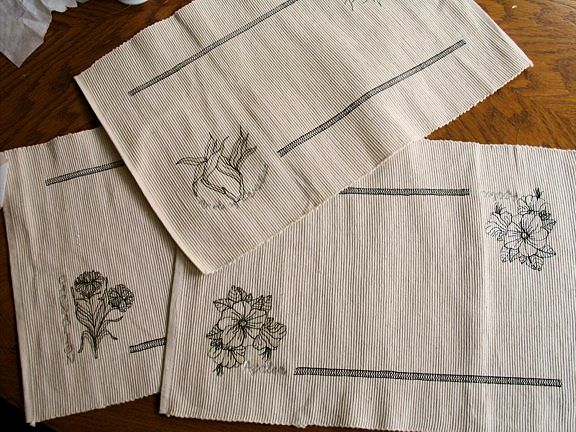 botanical-flower-placemats-stitchout-redwork-embroidery