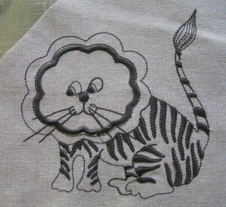 tiger-applique-redwork-embroidery