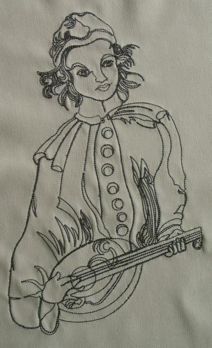venetian-musician-redwork-embroidery