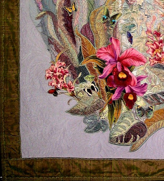 oasis-orchid-butterfly-art-quilt-detail