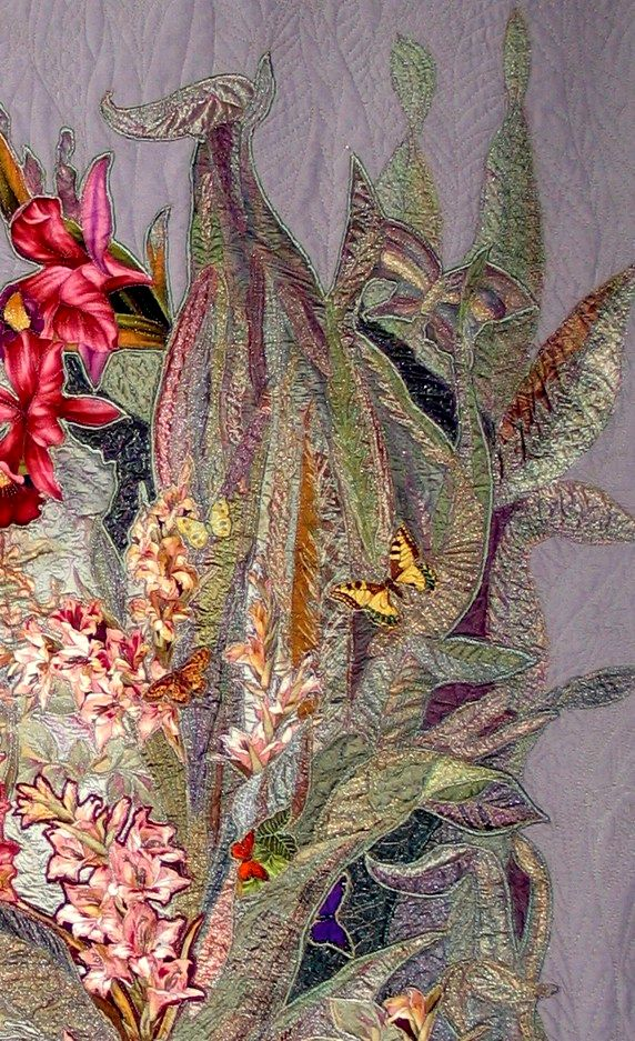 oasis-art-quilt-butterfly-orchid-quilt-detail